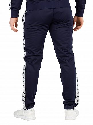 Kappa Blue Marine/White/Black 222 Banda Astoria Slim Joggers