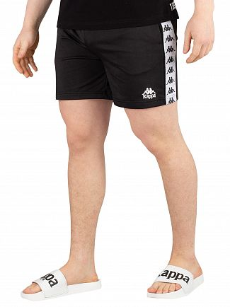Kappa Black/White/Black 222 Banda Cole Slim Sweatshorts