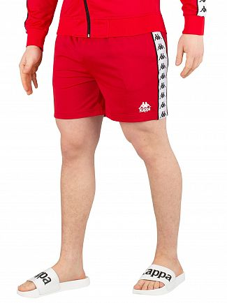 Kappa Red/White/Black 222 Banda Cole Slim Sweatshorts