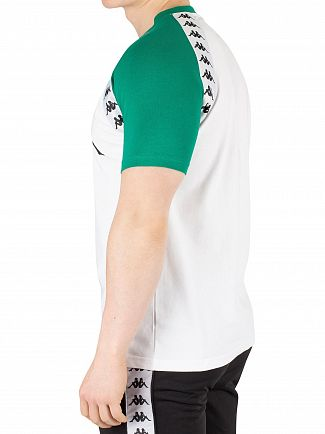 Kappa White/Green Banda Bardi T-Shirt