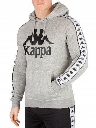 Kappa Grey Melange/White/Black Banda Hurtado Pullover Hoodie
