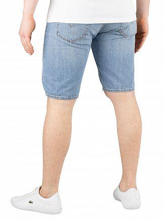 Levi's Blue Marshmallow 501 Hemmed Shorts