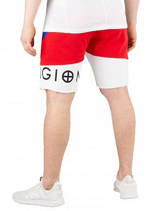 Religion Red/White/Blue Block Stripe Sweatshorts