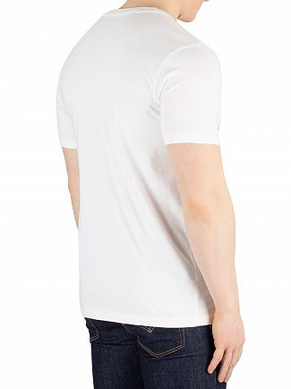 Scotch & Soda White Clean Graphic T-Shirt