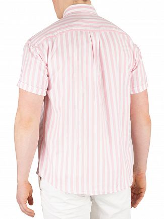 Scotch & Soda Pink/White Shortsleeved Stripe Shirt