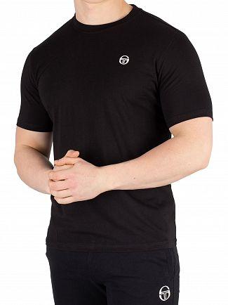 Sergio Tacchini Black/White Daiocco T-Shirt