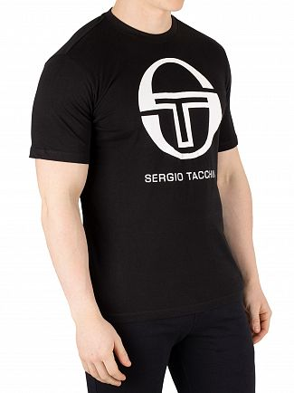 Sergio Tacchini Black/White Iberis T-Shirt