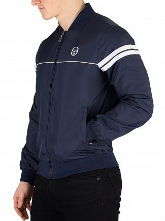 Sergio Tacchini Navy/White Light Bomber Jacket