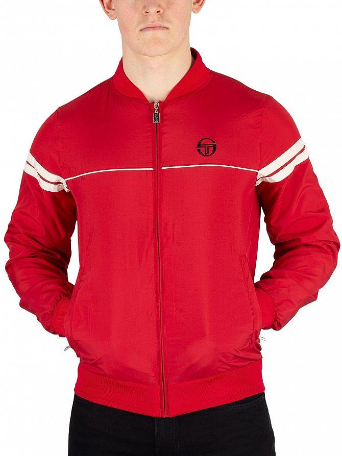 Sergio Tacchini Dark Red/Butter Cream Light Bomber Jacket