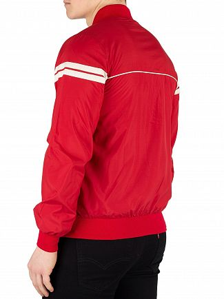 Sergio Tacchini Dark Red/Butter Cream Light Bomber Jacket