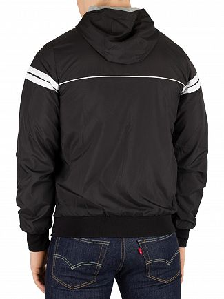 Sergio Tacchini Black/White Orion Light Hooded Jacket
