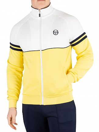 Sergio Tacchini Light Yellow/White Orion Track Top
