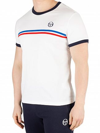 Sergio Tacchini White/Royal/Vintage Red Supermac 3 T-Shirt