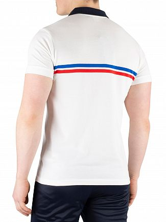 Sergio Tacchini White/Royal/Vintage Red Supermac Poloshirt