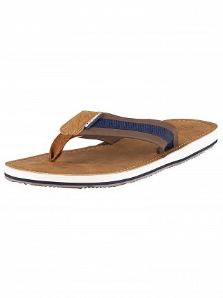 Superdry Tan/Brown/Dark Navy Cove 2.0 Flip Flops