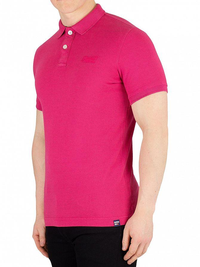 Superdry Florida Pink Marl Vintage Destroyed Poloshirt