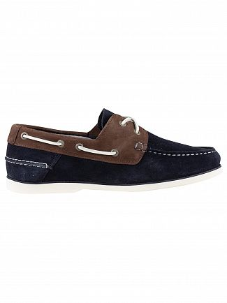 Tommy Hilfiger Midnight Coffee Bean Classic Suede Boat Shoes