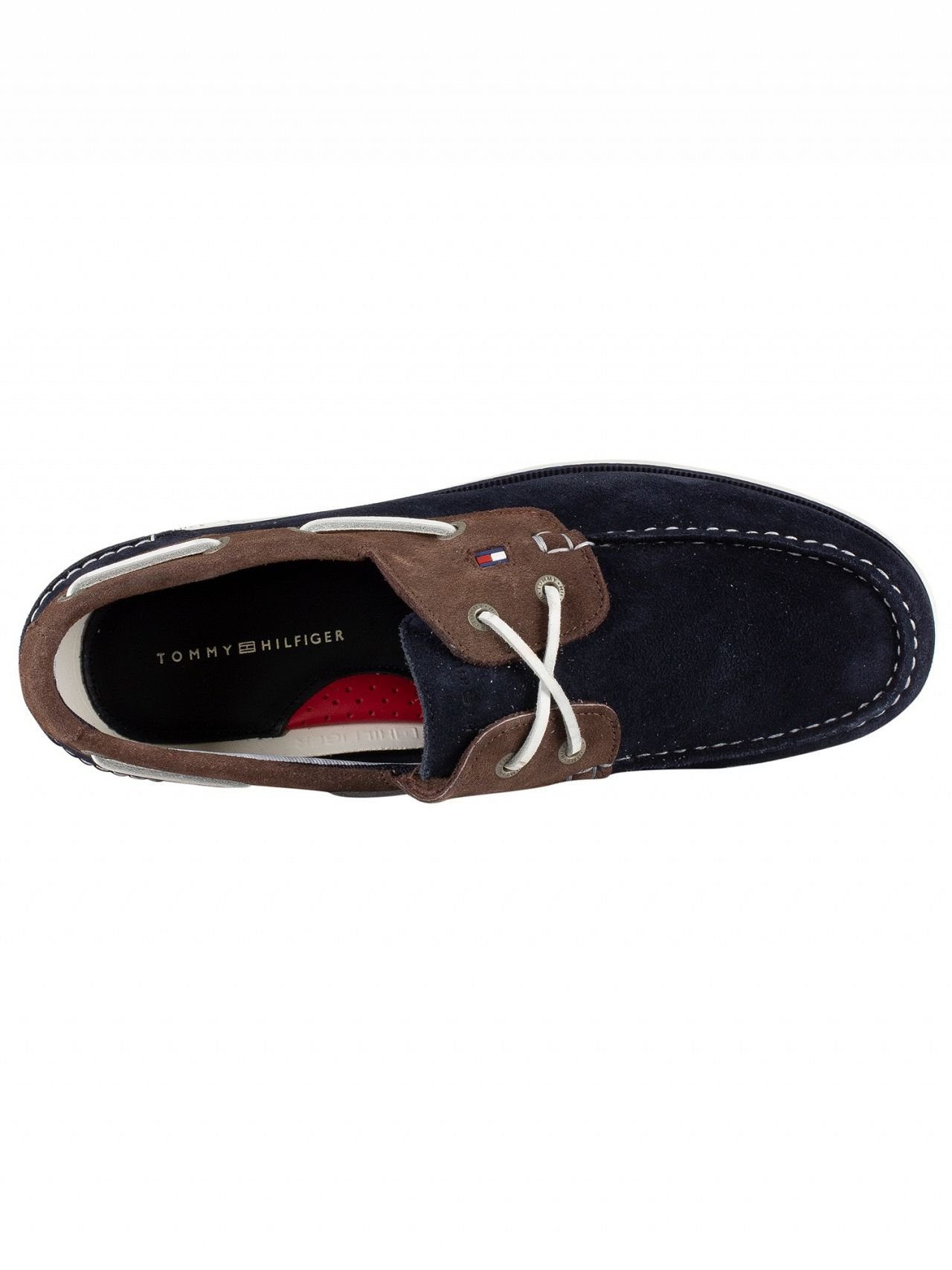 e55187d803ae Tommy Hilfiger Midnight Coffee Bean Classic Suede Boat Shoes