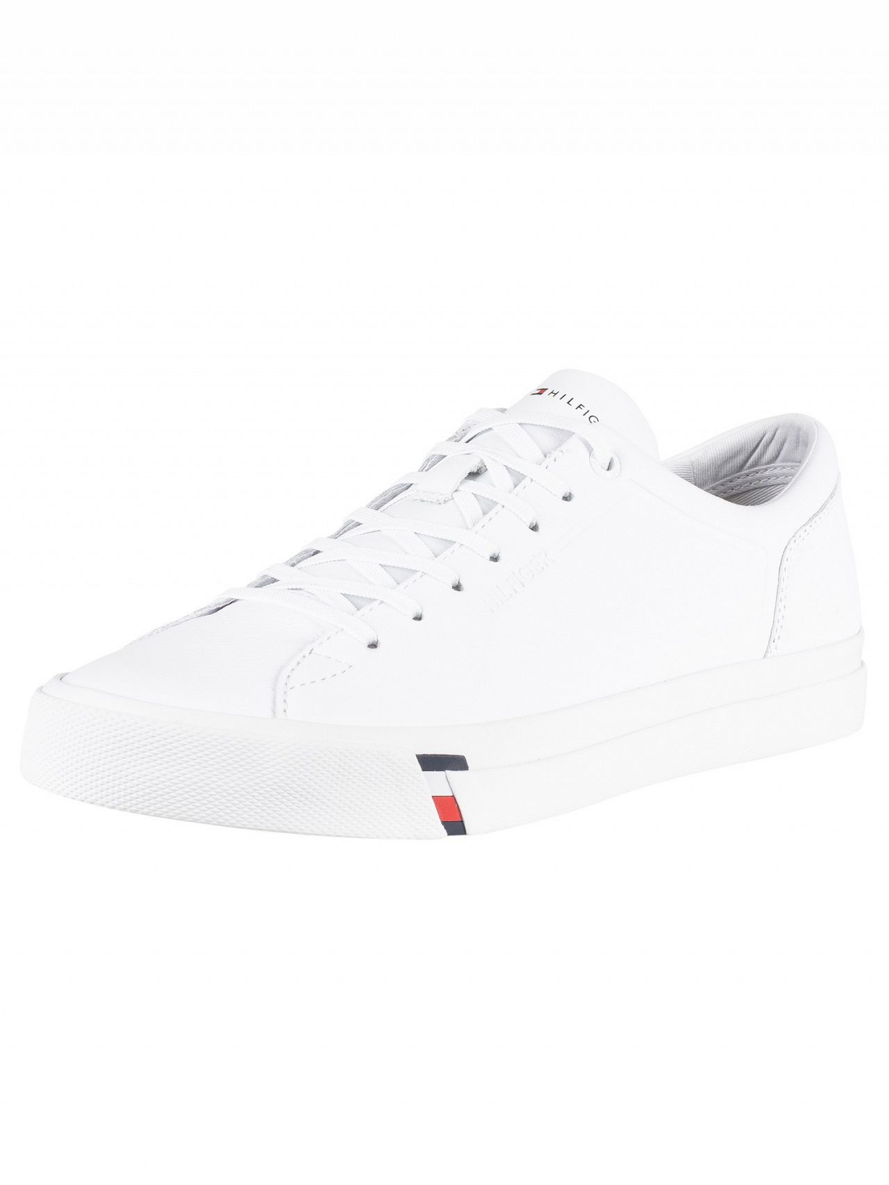 2092cfd82e73 Tommy Hilfiger White Corporate Leather Trainers