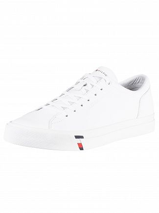 Tommy Hilfiger White Corporate Leather Trainers