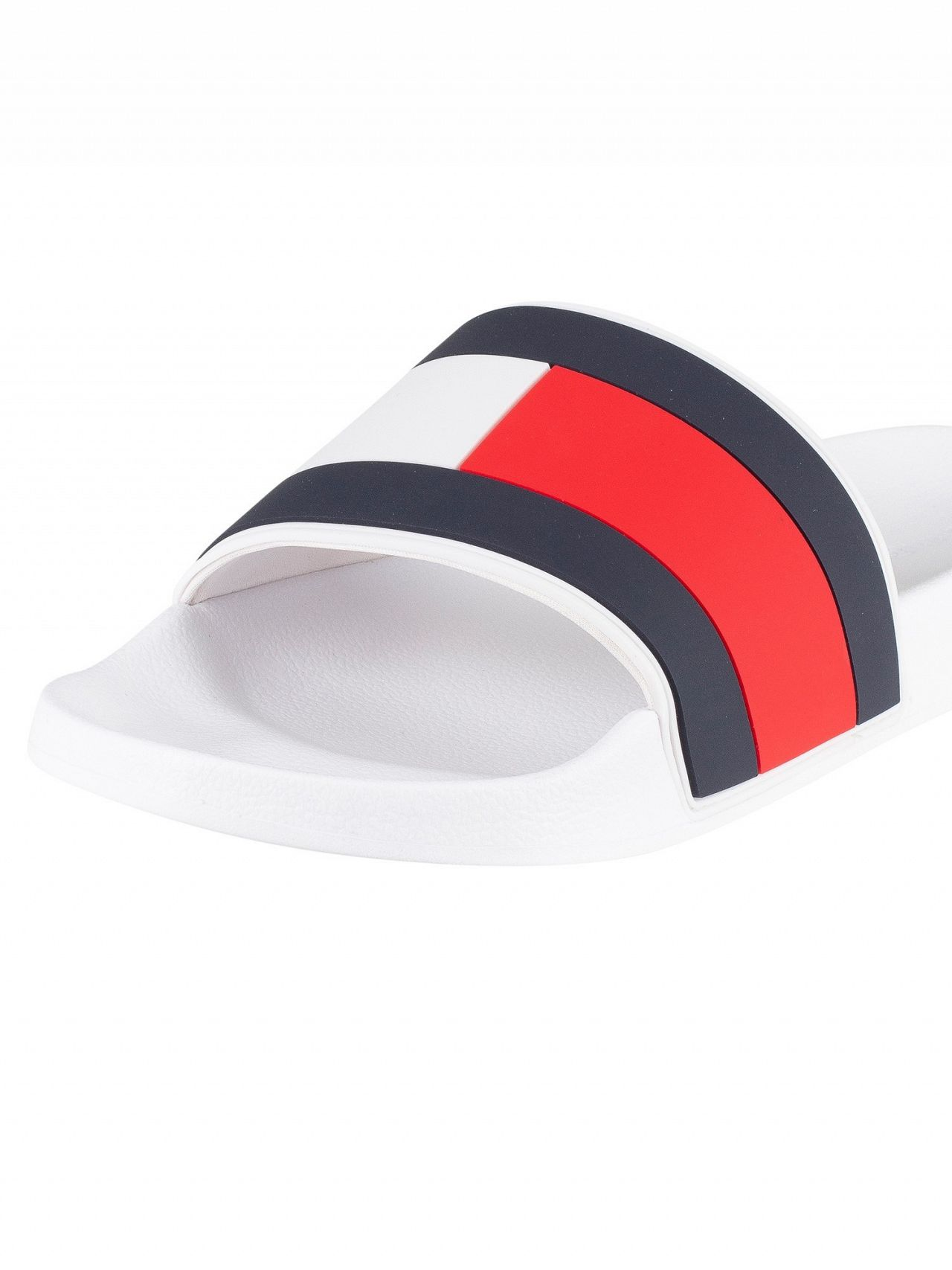 a74829a20c73 Tommy Hilfiger White Essential Flag Pool Sliders