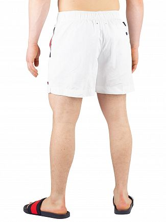 Tommy Hilfiger White Medium Drawstring Swimshorts