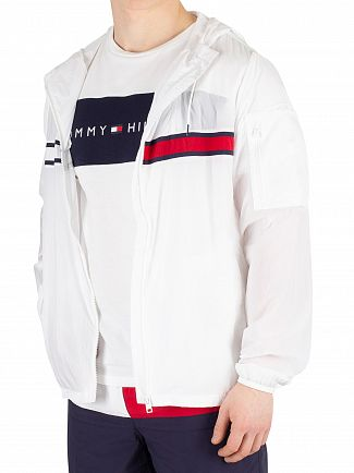 Tommy Hilfiger White Windbreaker Jacket