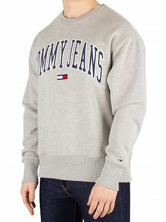 Tommy Jeans Light Grey Heather Clean Collegiate Sweatshirt