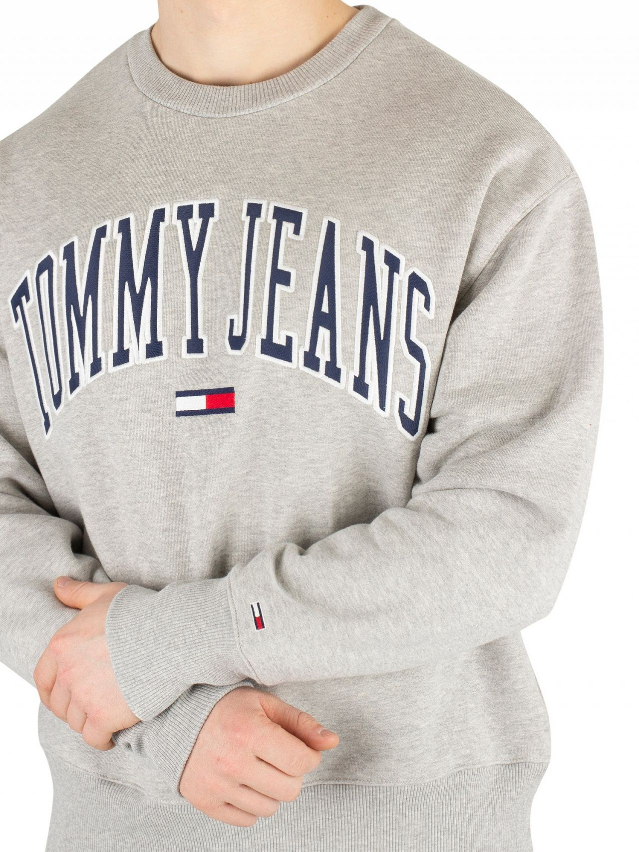 cb342f2c Tommy Jeans Light Grey Heather Clean Collegiate Sweatshirt | Standout