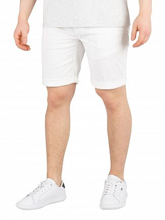 Tommy Jeans Classic White Essential Chino Shorts