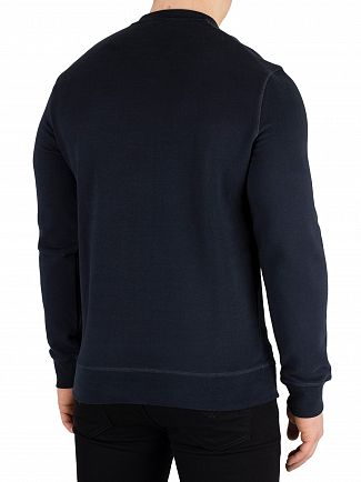 Aquascutum Navy Henry Crest Sweatshirt