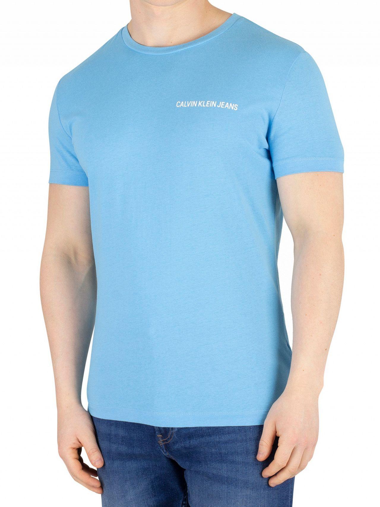 2985f4a0bf79 Calvin Klein Jeans Alaskan Blue Chest Institutional T-Shirt | Standout