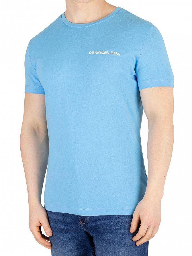 Calvin Klein Jeans Alaskan Blue Chest Institutional T-Shirt