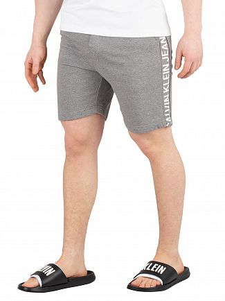 Calvin Klein Jeans Grey Heather Side Institutional Sweatshorts