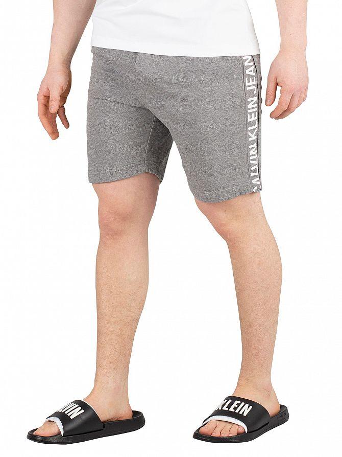 Calvin Klein Jeans Grey Heather Side Institutional Sweatshorts