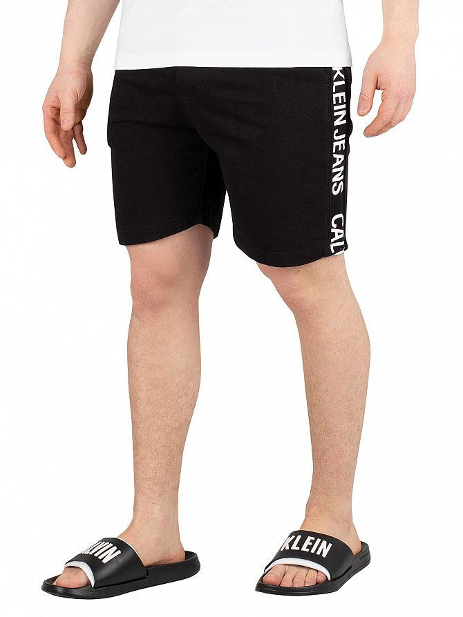 Calvin Klein Jeans Black Side Institutional Sweatshorts