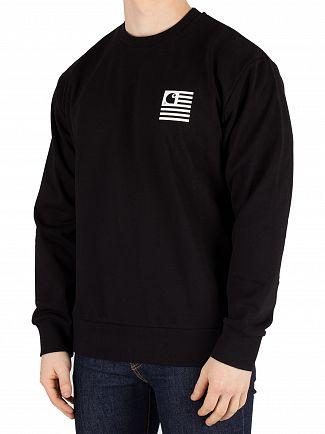 Carhartt WIP Black State Patch Sweatshirt