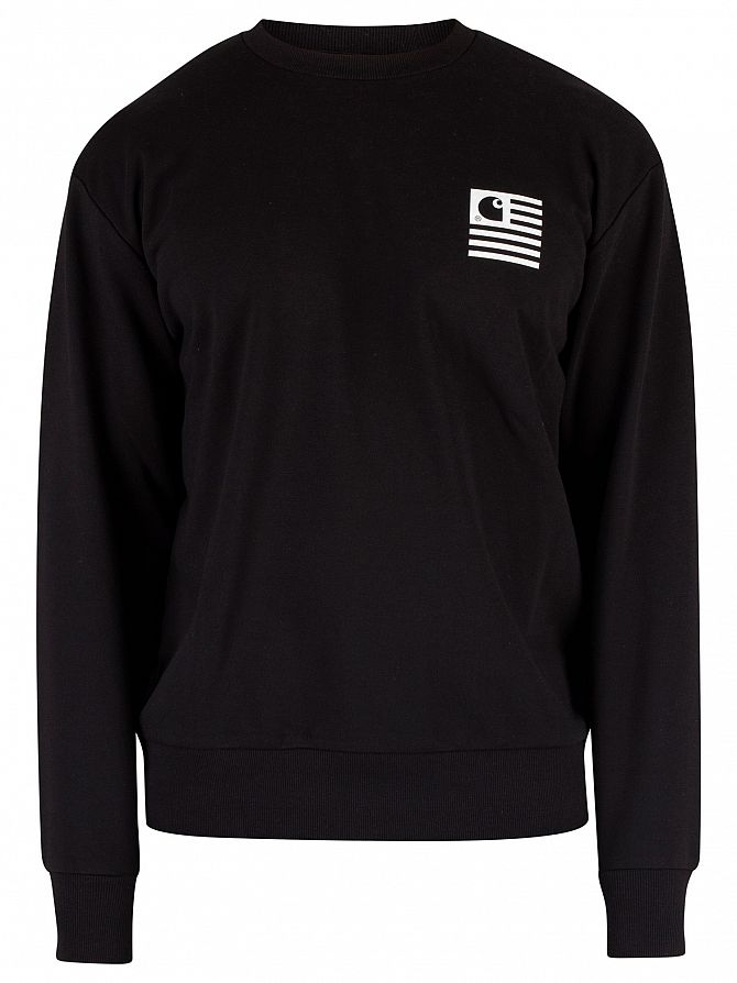 41e737ca Carhartt WIP Men's State Patch Sweatshirt, Black | eBay