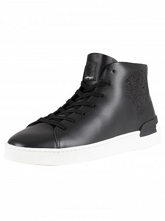 Ed Hardy Black/Black/White Beast Hi Top Trainers