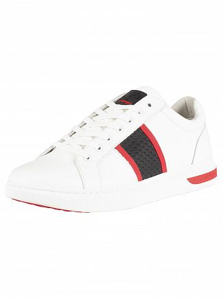 Ed Hardy White/Black/Red Blade Low Top Trainers