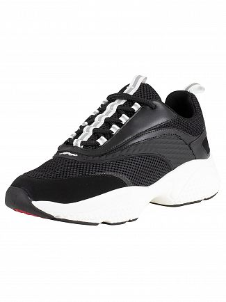 Ed Hardy Black/White Scale Chunky Runner Trainers