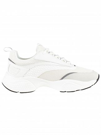 Ed Hardy White Scale Chunky Runner Trainers