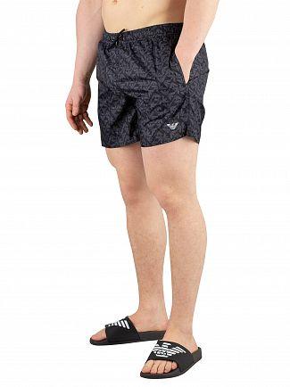 Emporio Armani Black Printed Swimshorts