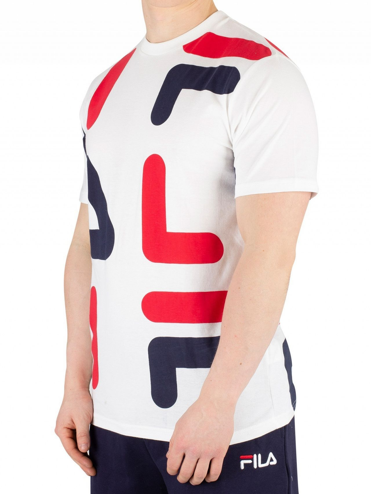 2d8c2ab7eb Fila White/Chinese Red/Peacoat Bennet AOP Print T-Shirt