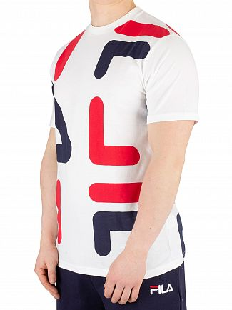 Fila White/Chinese Red/Peacoat Bennet AOP Print T-Shirt