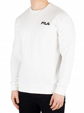 Fila White BO Logo Sweatshirt