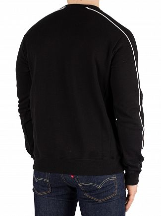 Fila Black Lachlan Outline Sweatshirt
