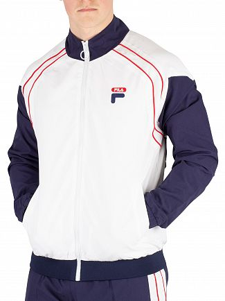 Fila White Vaughn Piped Track Jacket