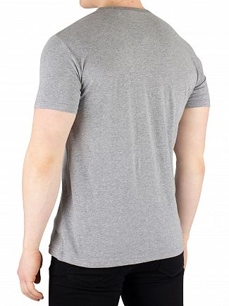 Gant Grey Melange Graphic T-Shirt