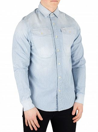 G-Star Milk/Indigo Bristum Utility Straight Fit Shirt